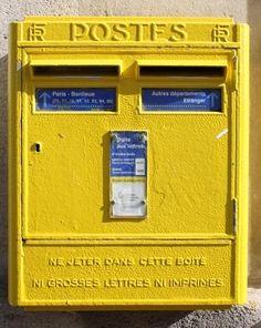 Paris Yellow Post Box by lucinda