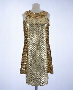 Paper dress,1965 #Dresses #Paper #Gold #1960s