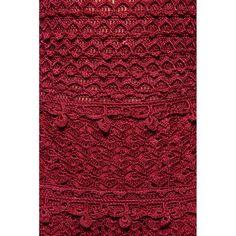 US$ 3,490.00 - Red Villeneuve Crochet Dress - Vanessa Montoro USA - vanessamontorolojausa