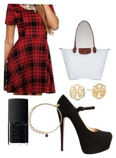 """""""Good girls are bad girls that haven't been caught"""" by litelbird ❤ liked on Polyvore featuring Christian Louboutin, Longchamp, Alex and Ani and NARS Cosmetics"""
