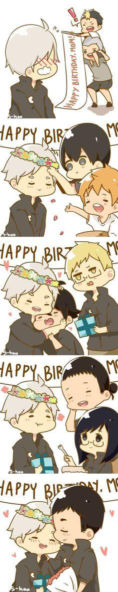 HAPPY BIRTHDAY PRECIOUS MAMA CROW a.k.a my waifu he's so precious i wanna hug him uwu rebloggable on my tumblr haikyuu (c) furudate haruichi more fanart: