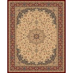 Balta US Classical Manor Cream / Red 9 ft. 2 in. x 12 ft. 5 in. Area Rug-68500612803803 at The Home Depot