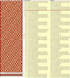 42 tarjetas, 2 colores, repite cada 72 movimientos // sed_1050 diseñado en GTT༺❁