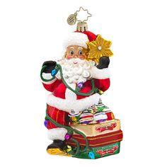 """Christopher Radko Ornament - """"Shiny Brite Santa"""""""