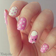 Teddy bears diy nail art--Find more latest stuff: nailslover.com #nailslover