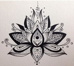 Unalome and lotus flower bodyart tattoos, lotus mandala tattoo, mandala