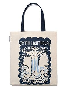 """Virginia Woolf """"To the Lighthouse"""" and """"Mrs. Dalloway"""" Literary Tote Bag Out of Print http://www.amazon.com/dp/B00LEVR7KU/ref=cm_sw_r_pi_dp_EntAub0NR2YBX"""