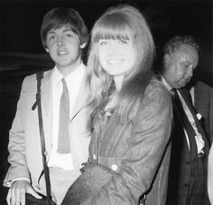 Home From Holiday in Portugal, June 11, 1965 - Beatle Paul McCartney and girlfriend actress Jane Asher just arrived back in London after a holiday in Portugal. The next day it was announced the Beatles would be receiving MBE medals.