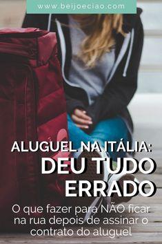Vida na Itália: como alugar um apartamento e NÃO se ferrar! Dicas para garantir que seu contrato está certinho e você não vai ficar na rua. #vidanaitália #morarnaitália #vidanaeuropa #brasileirosnaitalia
