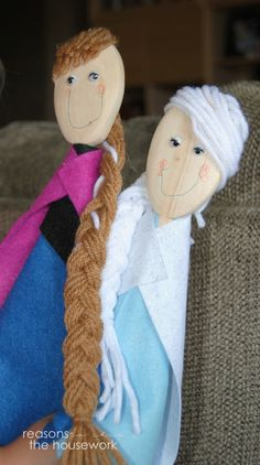 Princess Wooden Spoon Puppets - Reasons To Skip The Housework