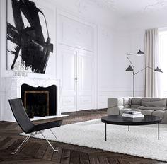 Der er nået ved sildebens gulve og især i det mørke❤️ (Parisian Apartment by Jessica Vedel)