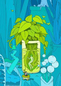 Character Illustration, Illustration Art, Arte Alien, Isometric Art, Plant Art, Hippie Art, Environment Concept Art, Jolie Photo, Anime Scenery