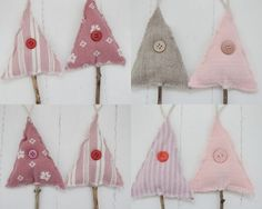 Great use of extra scraps of fabric and vintage buttons. Priscilla Mae et al