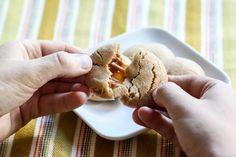 Caramel Stuffed Apple Cider Cookies // IBC Fall Cookie Week