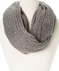 This Rampage Gray Flecked  Infinity Scarf by Rampage is perfect! #zulilyfinds