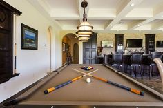 Game room & pub style bar upstairs at this Orlando vacation home