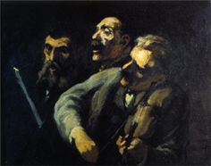 Singers in Front of a Desk - Honore Daumier