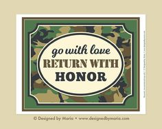 Army Farewell Decoration Printable: Boot Camp Party Sign  Go
