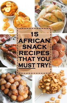 Most Popular African Snacks and appetizers you can easily make at home - Africa has a number of wonderful and scrumptious snacks derived from it's eclectic mix of Cultures and Traditions. West African Food, South African Recipes, South African Desserts, Africa Recipes, South African Dishes, Appetizer Recipes, Snack Recipes, Cooking Recipes, Appetizers