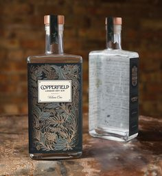 The Surrey Copper Distillery has launched its first product, Copperfield London Dry Gin, with brand identity and packaging developed by Nude Brand Creation. Beverage Packaging, Bottle Packaging, Brand Packaging, Liquor Bottles, Perfume Bottles, Gin Liquor, Whisky, Copper Pot Still, Gin Brands