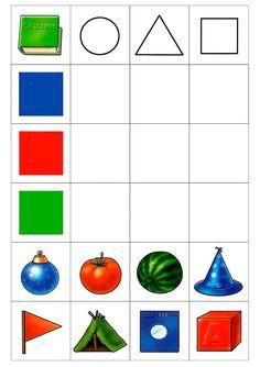 play on the development of logic Montessori Math, Preschool Learning Activities, Preschool Printables, Preschool Worksheets, Toddler Activities, Preschool Activities, Activities For Kids, Crafts For Kids, Shape Games