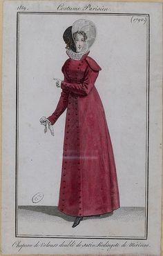 Redingote de merino 1819 costume parisien