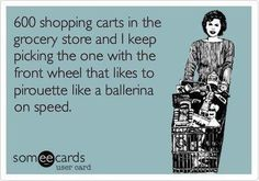 Ballerina shopping cart on speed! :')