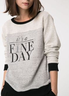 Mango - Sweat-shirt coton fine day