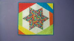 MODERN NUMBERS STAR color block sixsided star by quiltingcafe, $55.00