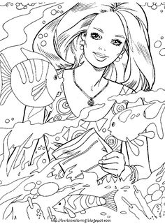 The 16 best Blog: Coloring Pages--Barbie images on Pinterest ...