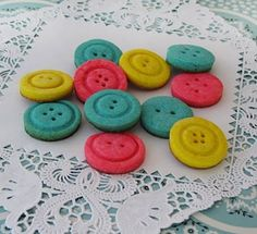 Button Cookies Recipe. TOO CUTE! good for baby shower, baby's birthday, or when I graduate from Gradschool some day