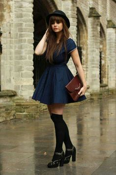Love this school girl inspired outfit
