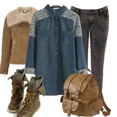 I'm not a fan of the denim shirt but I love the rest.