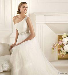 pronovias 2013 wedding dresses ducado one shoulder