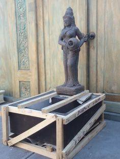 Balinese Goddess Garden Water Feature Cement Casting Statue & Base