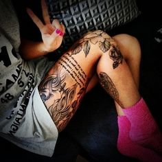 Sexy Leg Tattoo Designs for Women (11)