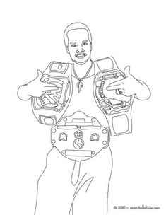 Wwe Wrestling Belts Coloring Pages