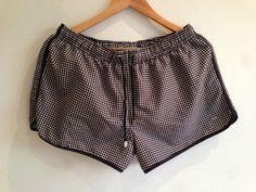 Black & White Checkerboard Pattern Swimshorts from Zara #swimshorts