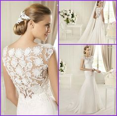 embroidered lace wedding dresses   wedding dresses chiffon lace posted on may 27 2013 under dresses no ...