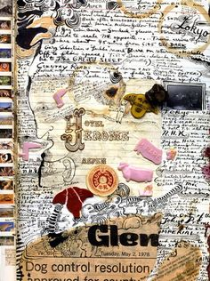 A page from Peter Beard's Kenyan diaries (African Dreamer, Vanity Fair magazine, pub. 1996)~Image © Peter Beard  www.artsandculturaltravel.com