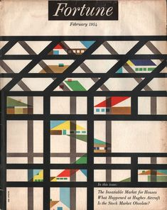 Fortune Magazine, February 1954. Cover artist: Erik Nitsche.