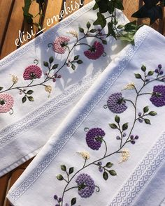 Image may contain: flower Embroidery Floss Crafts, Embroidery On Clothes, Baby Embroidery, Embroidery Works, Hand Embroidery Patterns, Beaded Embroidery, Embroidery Stitches, Machine Embroidery, Embroidery Designs