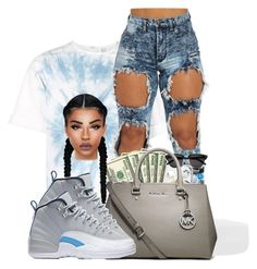 """""""#mystyle♡♡♡"""" by ballislife ❤ liked on Polyvore featuring Rosie Assoulin, MICHAEL Michael Kors and NIKE"""