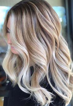 Greatest Vanilla Cream Blonde Hair Color Ideas for 2019 - Hair - Hair Styles Hair Color Highlights, Ombre Hair Color, Hair Color Balayage, Blonde Color, Cool Hair Color, Amazing Hair Color, Blonde Bayalage Hair, New Hair Colors, Blonde Balayage Highlights