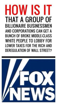 Why would a hard working middle class person vote for a Republican Party that has consistently sided with corporate rule?