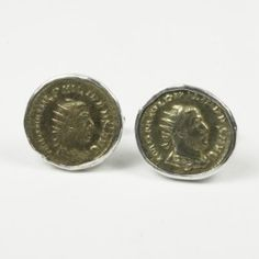 ba7bd5144c50 Sterling cufflinks featuring an authentic Roman emperor. These coins are  made from silver and are well preserved $675. Silverlust Jewelry