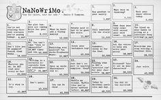 NaNoWriMo Calendar by reapthebeauty on deviantART: