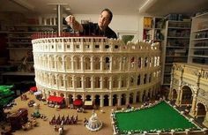 The world's first LEGO Rome colosseum by certified Lego builder Ryan