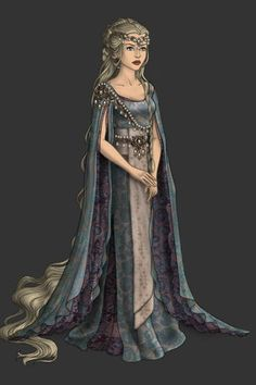 Celebrian, wife of Elrond. ~ by victoriaenDios ~ created using the LotR Hobbit doll maker   DollDivine.com