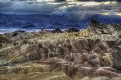 Zabriskie Point at Dusk Photograph